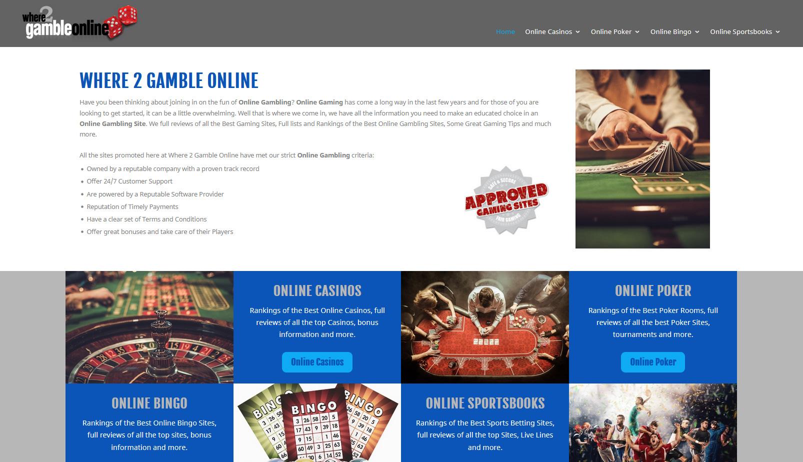 Where 2 Gamble Online