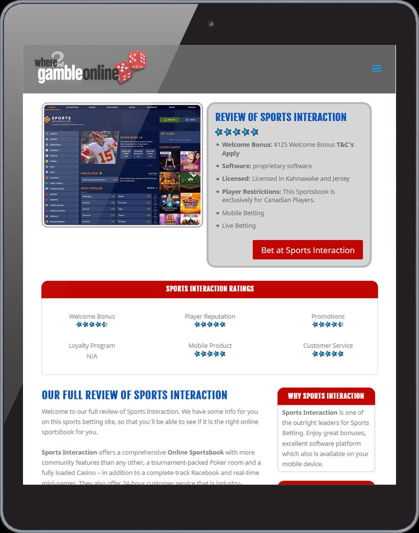 Where 2 Gamble Online Site 2