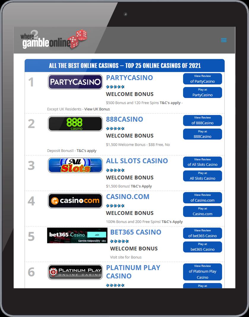 Where 2 Gamble Online Site 3